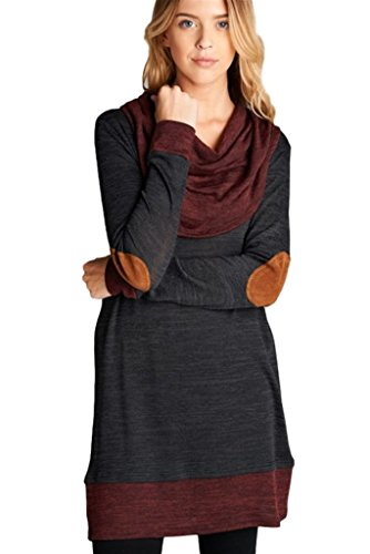 Bellamie Womens Hacci Tunic Patches