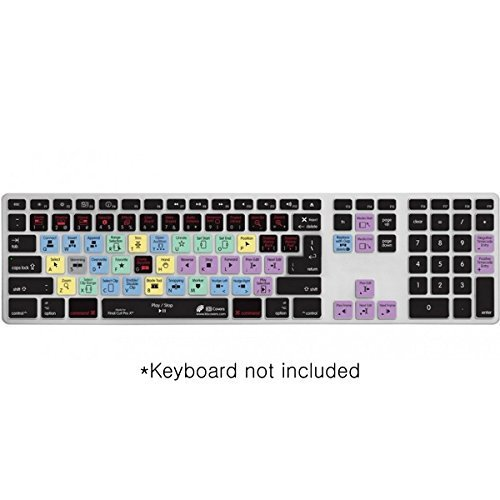 Editors Keys Final Cut Pro X Keyboard Cover | Shortcut Printed Cover for Apple Ultra-Thin Keyboard with Number Pad
