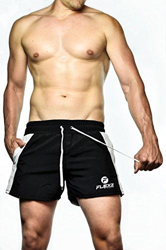 Bodybuilding Gym Shorts, Festival Rugby swimming, 2euros, Ibiza Golds Mens Retro Aesthetic Muscle ZYZZ Black Small
