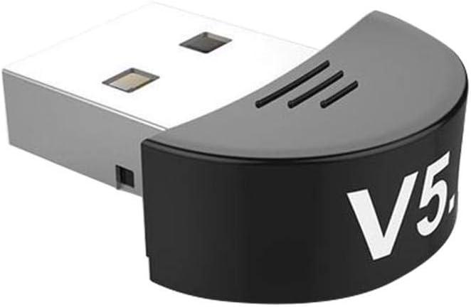 Image of terferein Adaptador USB Bluetooth 5.0, Receptor de Audio Musical con Plug and Play, sin Necesidad de Conducir, Compatible con Dispositivos Bluetooth 4.1/4.2/5.0