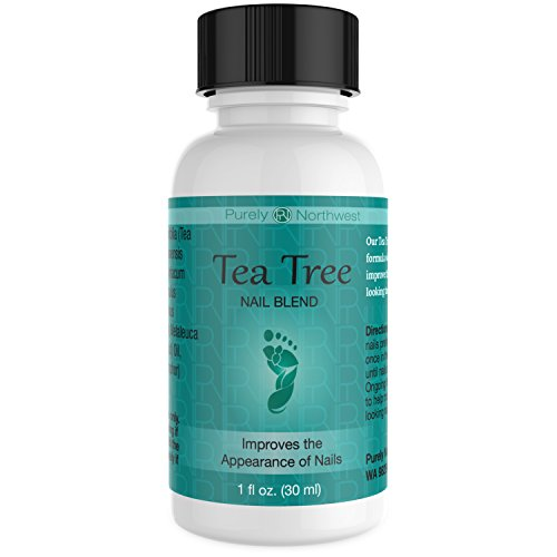 Tea Tree Oil Nail Blend- Natural Toenail Care Solution to Help Renew Dull Looking Finger & Toenails 1 FL OZ (30 ml)