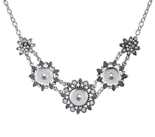 tal Pendant Necklace Drill Snap Fit 18mm Noosa Charm Button ()