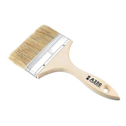 uxcell 5 Inch Chip Paint Brush Synthetic Bristle with Wood Handle for Wall Treatment