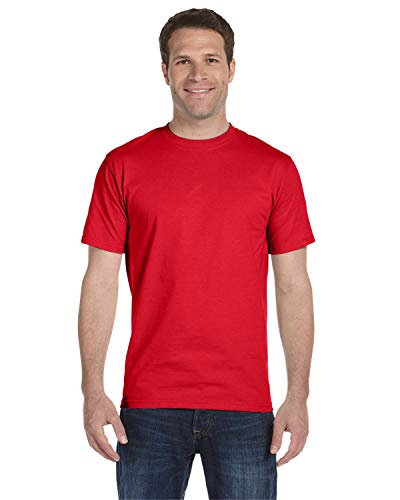 Hanes 6.1 oz. Beefy-T (5180) Athletic Red, S