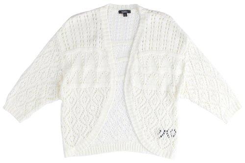 XOXO Juniors Pointelle Shrug Cardigan Sweater, Ivory, Medium