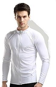 UV Sun Protection Men's Adult Long Sleeve Rash Guard