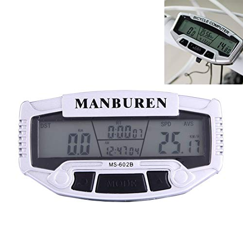 Watemallment Outdoor Sports Equipment Outdoor&Sports Multifunction LCD Display Cycle Computer Odometer Speedometer (MS-602B)(Silver) (Lcd 14.1' Rear Cover)