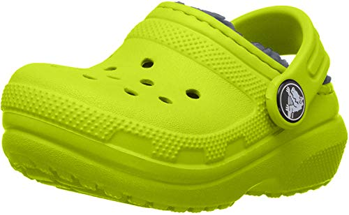Crocs Kids Classic Lined Clog  | Indoor or Outdoor Warm and Cozy Toddler Shoe or Slipper