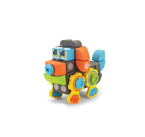 Velcro Kids VELCRO Brand BLOCKS | STEM Toy | Building Blocks, Lightweight Foam | 35 Piece, Doggy Robot, Age 3+ [Packaging May Vary]