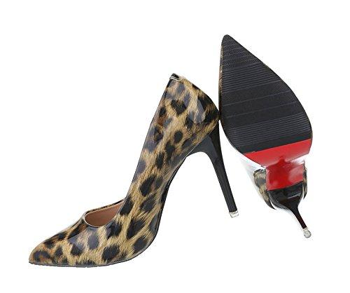 Spitze Pumps | Stiletto Absatz | Abendschuhe Lack | High Heels Stilettos | Party Pumps Schuhe | Abendschuhe Pumps | Schuhcity24 Leo