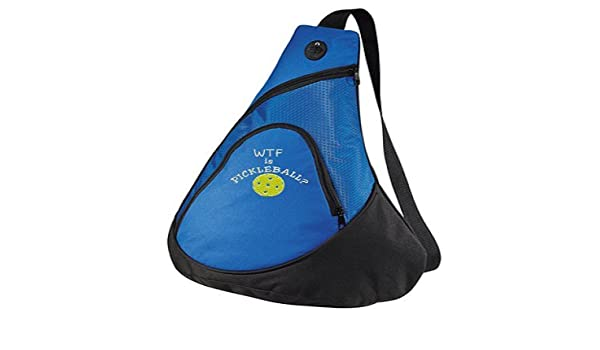 Amazon.com : Port Authrority Pickleball paddle racquet sling bag - WTF is Pickleball? - customizable with NAME you CHOOSE : Sports & Outdoors