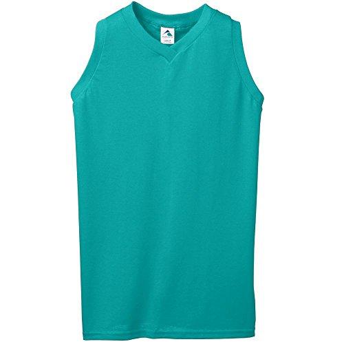 Augusta Sportswear Women's Sleeveless V-Neck Poly/Cotton Jersey XL Teal