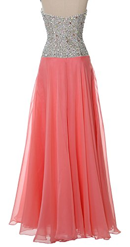 MACloth Women Strapless Long Prom Dress 2017 Chiffon Formal Party Evening Gown Champagne