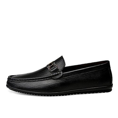 Mocasines Mocasines Caminar Color Hombre Mocasines para para Negro Comodidad 2018 para Negro shoes tamaño Antideslizante Zapatos Ocasionales 38 EU Hombres con y Yajie Flexibles YEXUx8