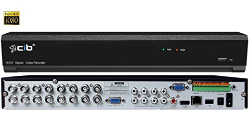 CIB True 1080P HD 16CH Recording and Display DVR system,HDMI output up to 4K,Included 2TB HDD,Network Viewing,for HD-TVI / HD-AHD Camera,all 480TLV to 960H CCTV Camera,Plus 8CH 4MP IP Camera Input For Sale
