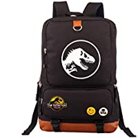 Jurassic World Park Dinosaur Backpack School Bag Laptop Travel Camping Rucksack Black
