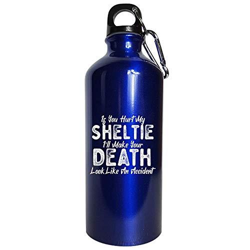 Sheltie Lover Dog Love Accidental Death - Water Bottle Metallic - Watch Sheltie