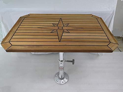 JZ Removable Adjustable Table Pedestal Base for Marine Boat RV Aluminum 19.7-27.6