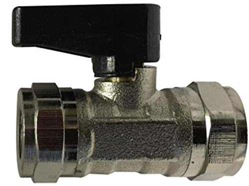 Midland 46651 Chrome Plated Brass Mini Ball Valve, 1/4