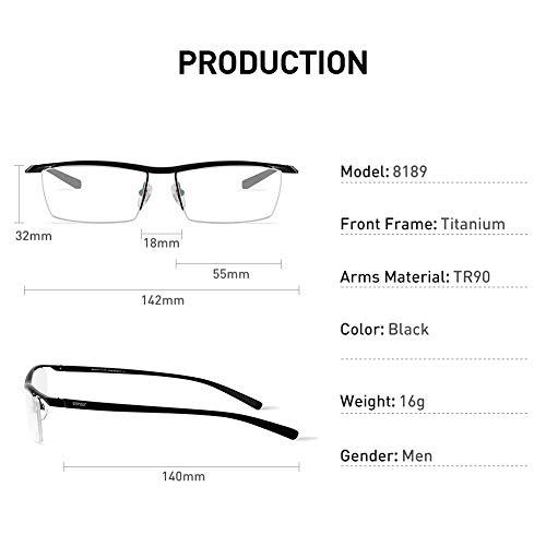 147c22f32f Amazon.com  Bertha Men Semi-Rimless Eyeglasses