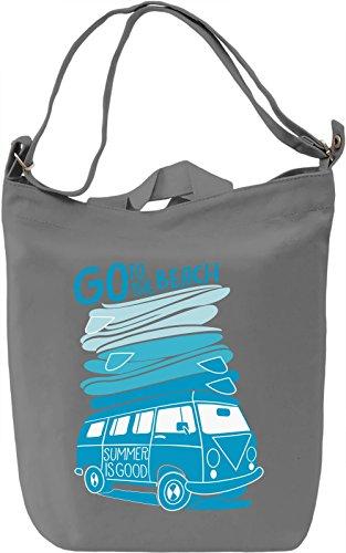 Go to the beach Borsa Giornaliera Canvas Canvas Day Bag| 100% Premium Cotton Canvas| DTG Printing|