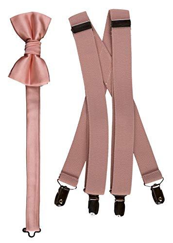 Bow Tie and Suspender Set Combo in Men's