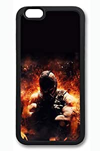 BESTER iPhone 6 Case, 6 Case - Scratch-Resistant Protective Soft Rubber Case Cover for iPhone 6 The Dark Knight Rises Bane Anti-Scratch Black Rubber Case Bumper for iPhone 6 4.7 Inches