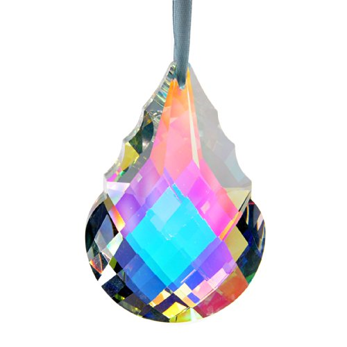 H&D Colorful Crystal Chandelier Crystals Hanging Lamp Prisms Sun Catcher 76mm