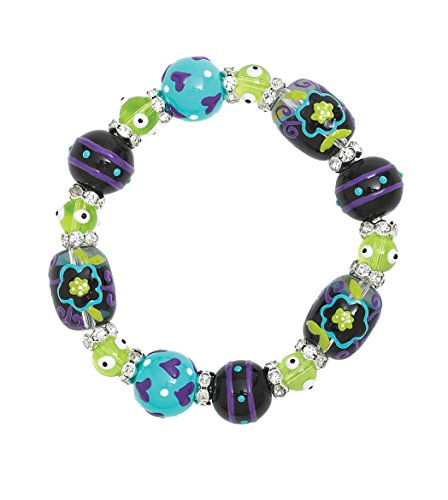Clementine Design Kate & Macy Little Flower Bracelet Painted Glass Beads - Macy's Glasses