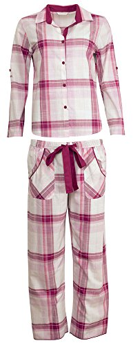 Cyberjammies Damen Schlafanzug Rosa Pink 36