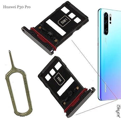 iSkyce Cajón de Meseta Nano Sim y Tarjeta SD para Huawei P30 ...