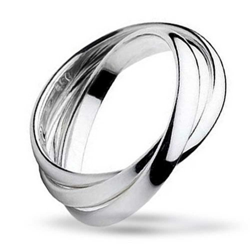 Simple 925 Sterling Silver Dome Rolling Russian Couples Wedding Band Ring For Women For -