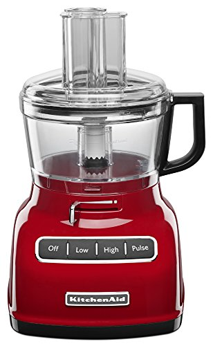 KitchenAid KFP0722ER 7-Cup Food Processor with Exact Slice System - Empire Red (Cook Processor Kitchenaid)