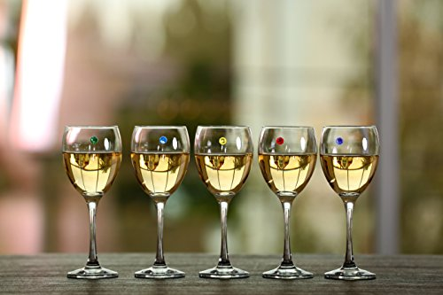 Swarovski Crystal Magnetic Wine Charms - Bundle of 3 Sets of 6 - Makes 18 Unique Glass Markers by Simply Charmed (Image #5)