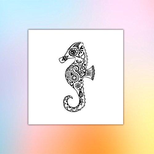 Caballo de mar - Tatuaje temporal (conjunto de 2): Amazon.es: Handmade