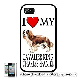 Cavalier King Charles #2 I Love My Dog Apple iPhone 4 4S Case Cover Black