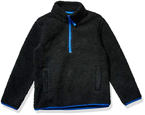 Amazon Essentials Boys' Polar Fleece Lined Sherpa Quarter-Zip Jacket