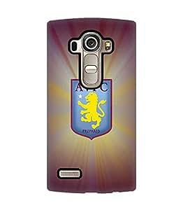 3D Cover Aston Villa F.C Football Club Logo for LG G4 Funda Case Cover Protect Pattern Hard Back Cute Design for Girls
