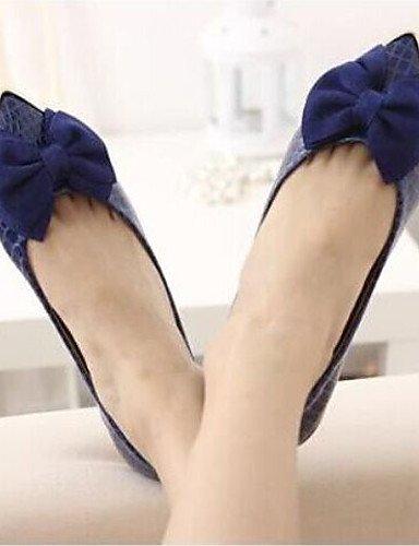 PDX/ Damenschuhe - Ballerinas - Büro / Kleid / Lässig - Kunstleder - Flacher Absatz - Mary Jane - Schwarz / Blau / Beige beige-us6 / eu36 / uk4 / cn36