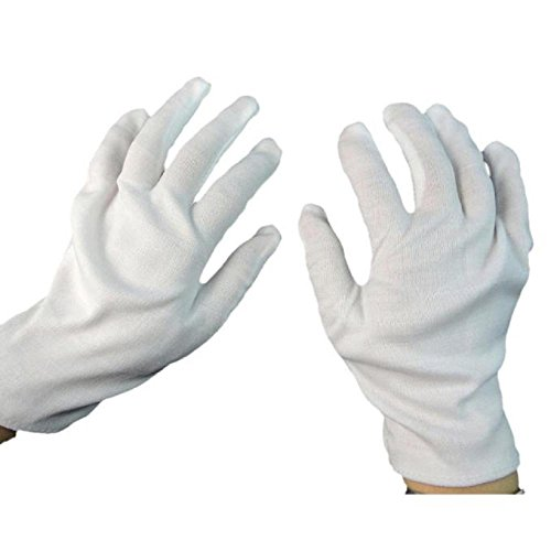 Halloween Cosplay Costumes,ZIYUO-Toys 1Pair White Halloween Costume Accessories Gloves