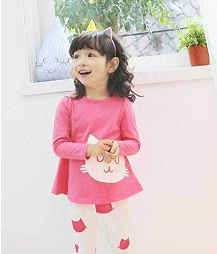 Waboats Winter Kids Girls Cartoon Printed Long Sleeve Top & Pant 4T Red