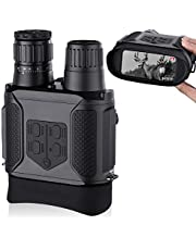 """Digital Night Vision Binoculars, Take Photos & Videos - 3.5-7x31mm Infrared Spy Gear 850nm IR - 4"""" Large Screen 1300ft Viewing Range with 32G Memory Card for Hunting & Surveillance"""