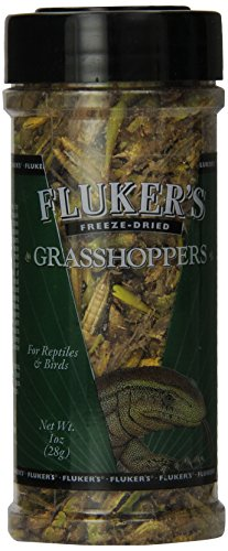 Fluker Labs SFK72018 Freeze-Dried Grasshoppers Reptile Food, 1-Ounce