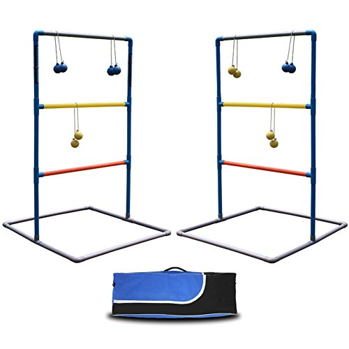 (Maggift Ladder Toss Game Set for Indoor or Outdoor with 6 Bolas, Carrying)