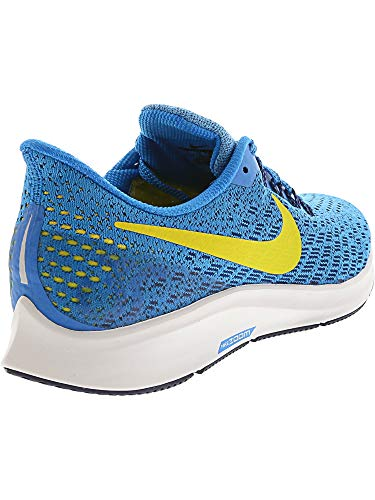 Nike Men's Air Zoom Pegasus 35 Blue Orbit/Bright Citron Ankle-High Mesh Running Shoe - 6.5M by Nike (Image #6)