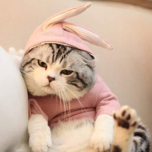 Smoro El su/éter Encantador de la Oreja de Conejo para el Gato del Perrito del Animal dom/éstico Perro Calza la Ropa de la Capa de los g/éneros de Punto de su/éter del Puente