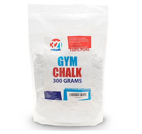 321 STRONG 300 Gram (10.58 oz) Loose Gym Chalk For Weightlifting, Rock Climbing, Kettlebells, and Gymnastics