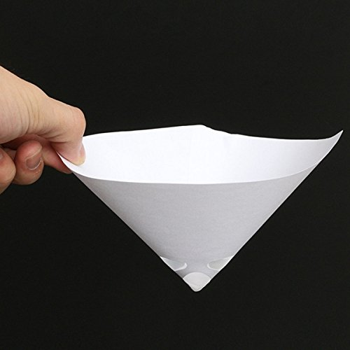 Car Repair Equipments - 50pcs 100 Mesh Paper Paint Strainer Nylon Full Flow Conical Cone Filter Funnel - Paint Strainer Filter Cone Strainers Paper Auto Lint Trash Disposable Funnel