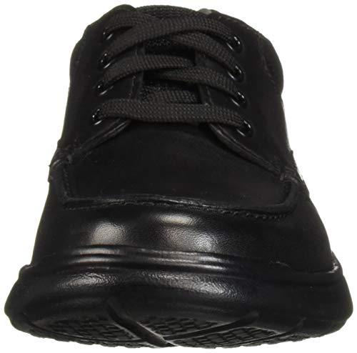 Black Leather Clarks Scarpe Cotrell Stringate Derby Smooth Edge Uomo wwHRqSpY