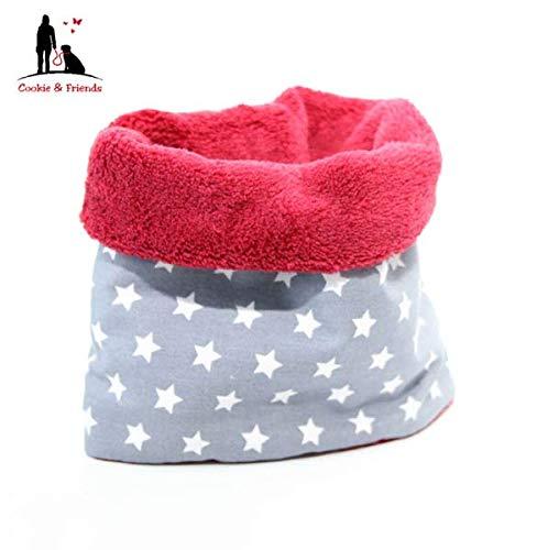 HundeloopGrey Stars, Schal für Hunde, wunderbar warm und weich Schal für Hunde